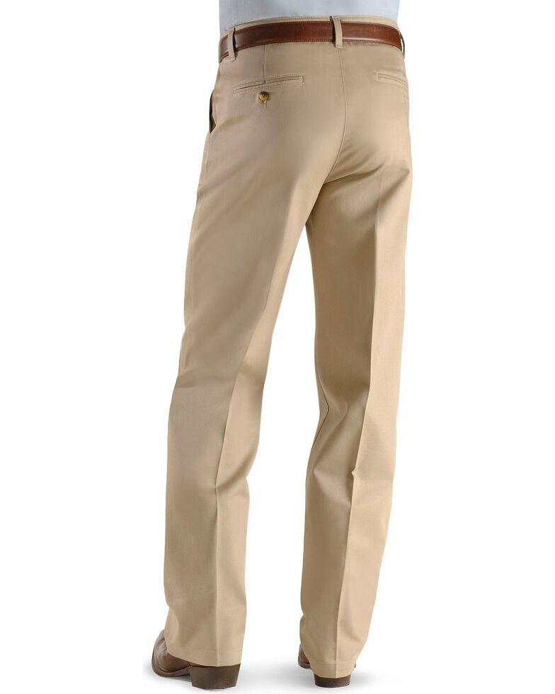 0d1f4d1e Zoomed Image Wrangler Men's Riata Flat Front Relaxed Fit Pants, Khaki,  hi-res
