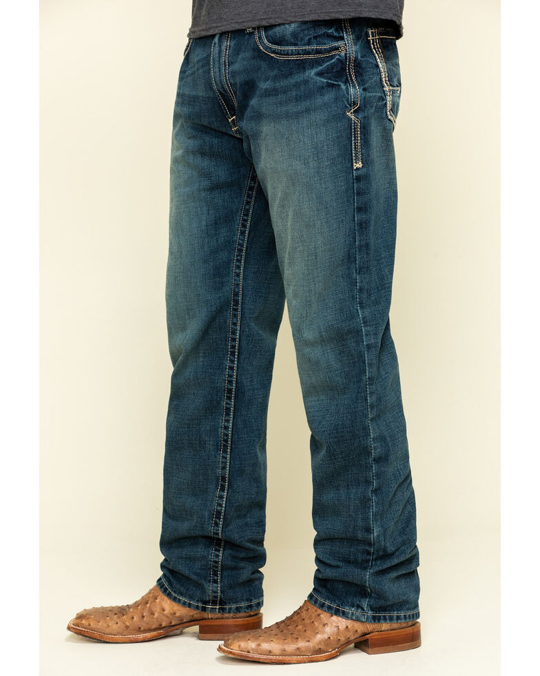 Ariat Men's M3 Boundary Gulch Loose Straight Jeans , Blue, hi-res