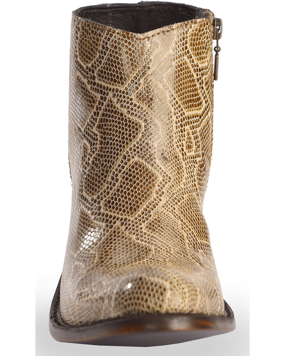 Liberty Black Women's Breton Snake Print Booties - Medium Toe, Beige/khaki, hi-res
