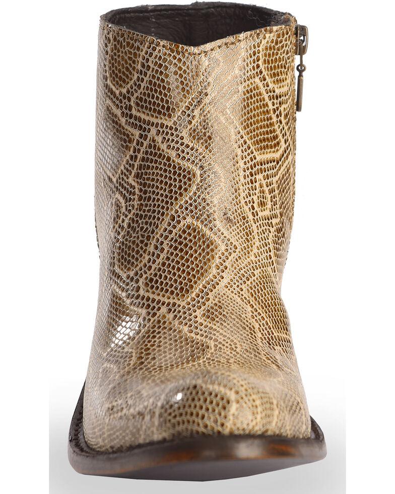 Liberty Black Women's Breton Snake Print Booties - Medium Toe