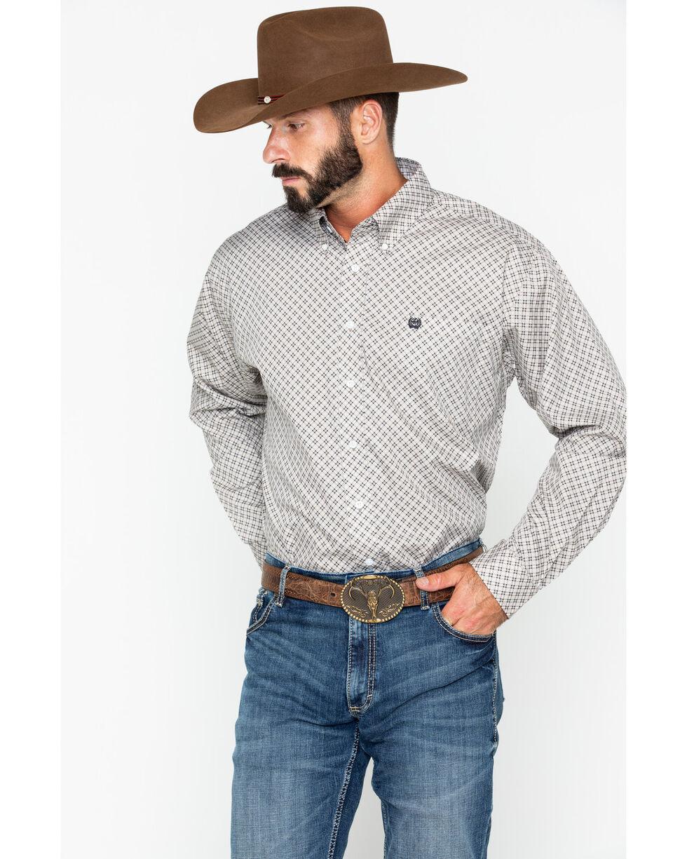 Cinch Men's Diamond Print Long Sleeve Button Down Shirt, , hi-res