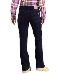 Dickies Women's Relaxed Bootcut Jeans, Dark Stone, hi-res