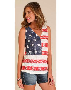 Wrangler Women's Americana Tank Top , Ivory, hi-res