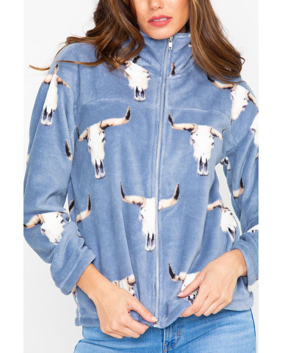 Peach Love CA Women's Steerhead Plush Pullover, Blue, hi-res