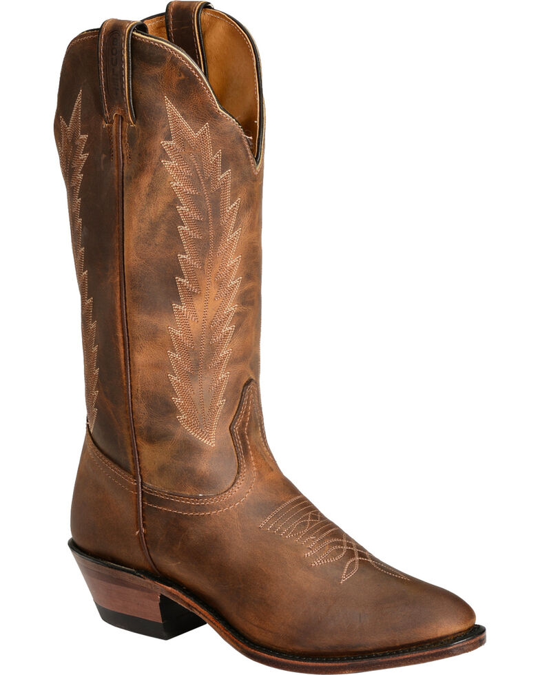 "Boulet Women's 13"" Medium Cowboy Toe Western Boots, Golden, hi-res"