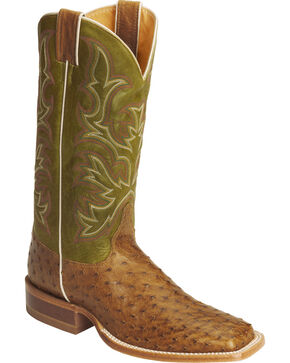 Justin Men's AQHA Remuda Full Quill Ostrich Exotic Boots, Antique Saddle, hi-res