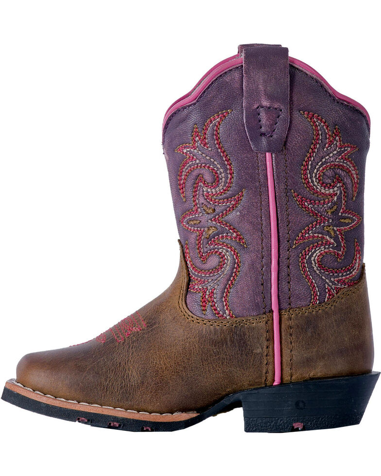 Dan Post Toddler Girls' Sand Tryke Leather Boots - Square Toe , Sand, hi-res