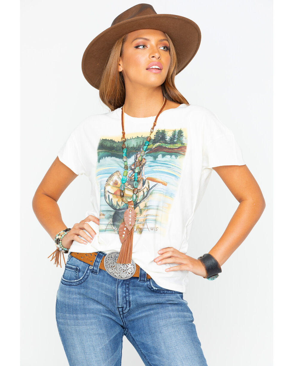 Tasha Polizzi Women's Native Adventure Tee , Ivory, hi-res