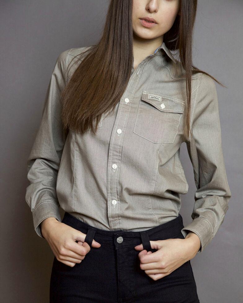 Kimes Ranch Women's Lizzie Chambray Shirt , Grey, hi-res
