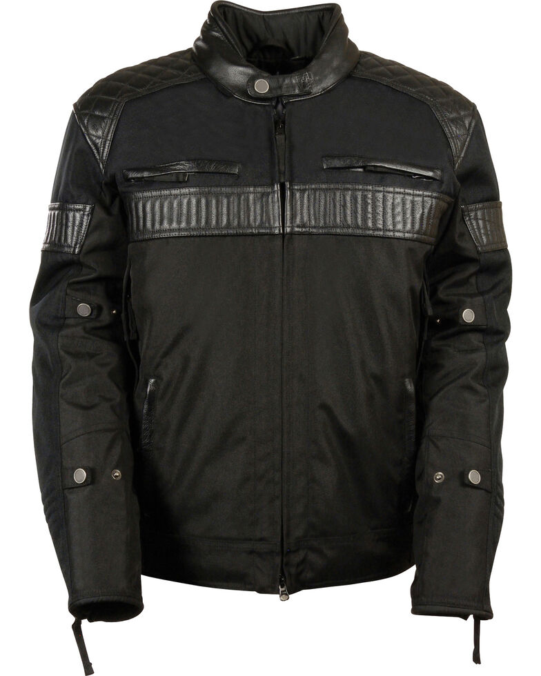 Milwaukee Leather Men's Black Textile Scooter Jacket - Big & Tall, Black, hi-res