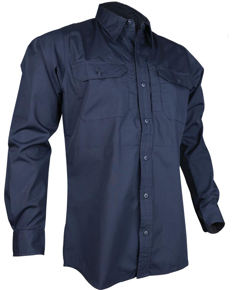 Tru-Spec Men's Navy 24-7 Long Sleeve Dress Shirt , Navy, hi-res