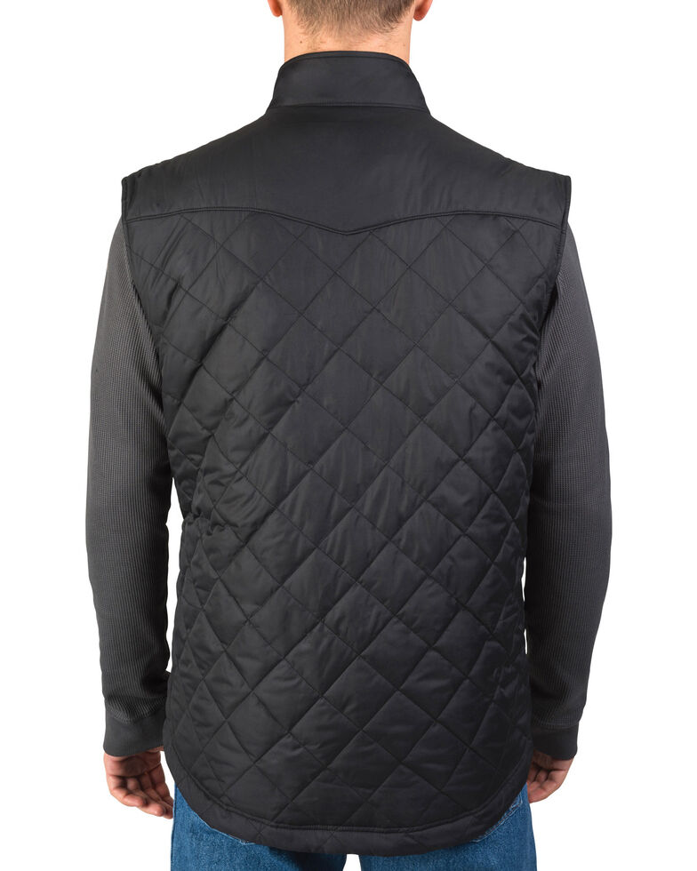 Walls Men's Ruidosa Nylon Ranch Vest, Black, hi-res