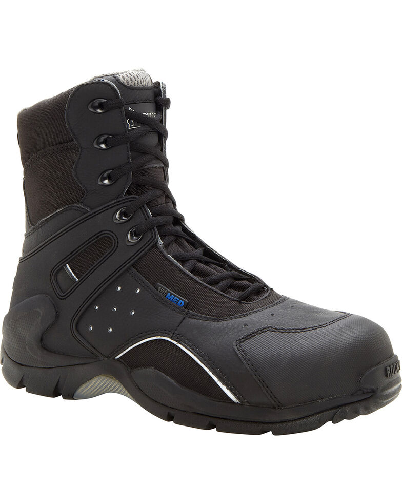 Rocky Men's 1st Med Carbon-Fiber Toe Boots, Black, hi-res