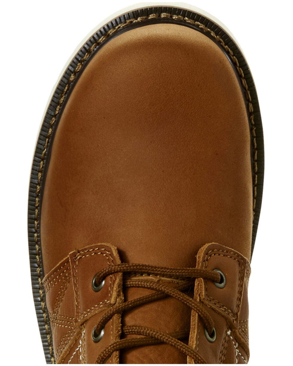 Ariat Men's Rebar Wedge Golden Grizzly Work Boots - Round Toe, Tan, hi-res