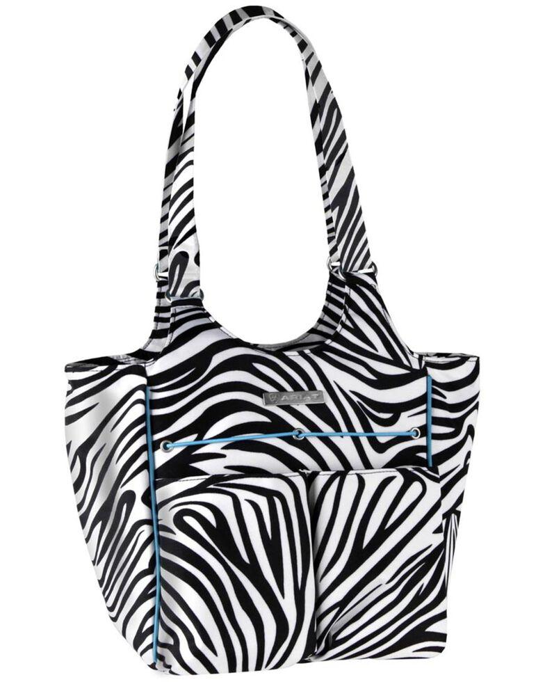 Ariat Women's Carry All Zebra Tote Bag, Zebra, hi-res