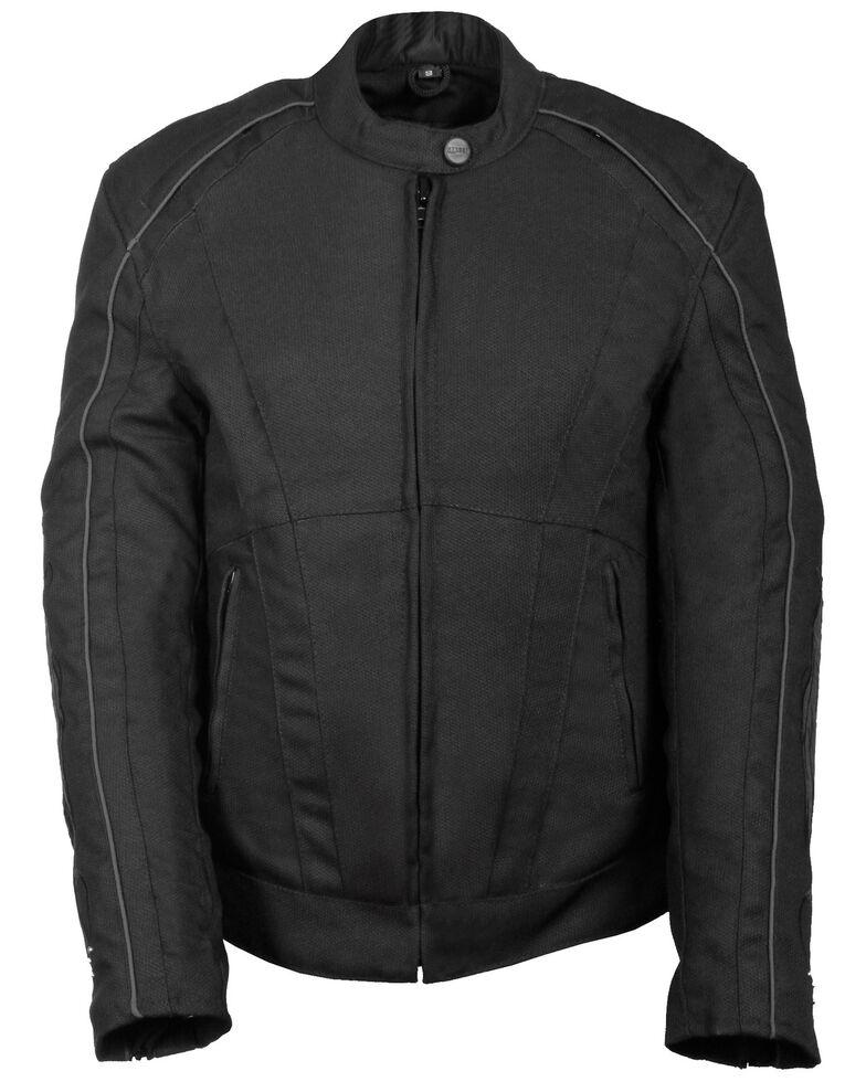 Milwaukee Leather Women's Textile Jacket w/ Stud & Wings Detailing, Black, hi-res