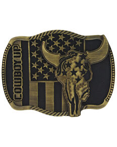 Montana Silversmiths Cowboy Up Strength in Heritage Attitude Buckle, Bronze, hi-res