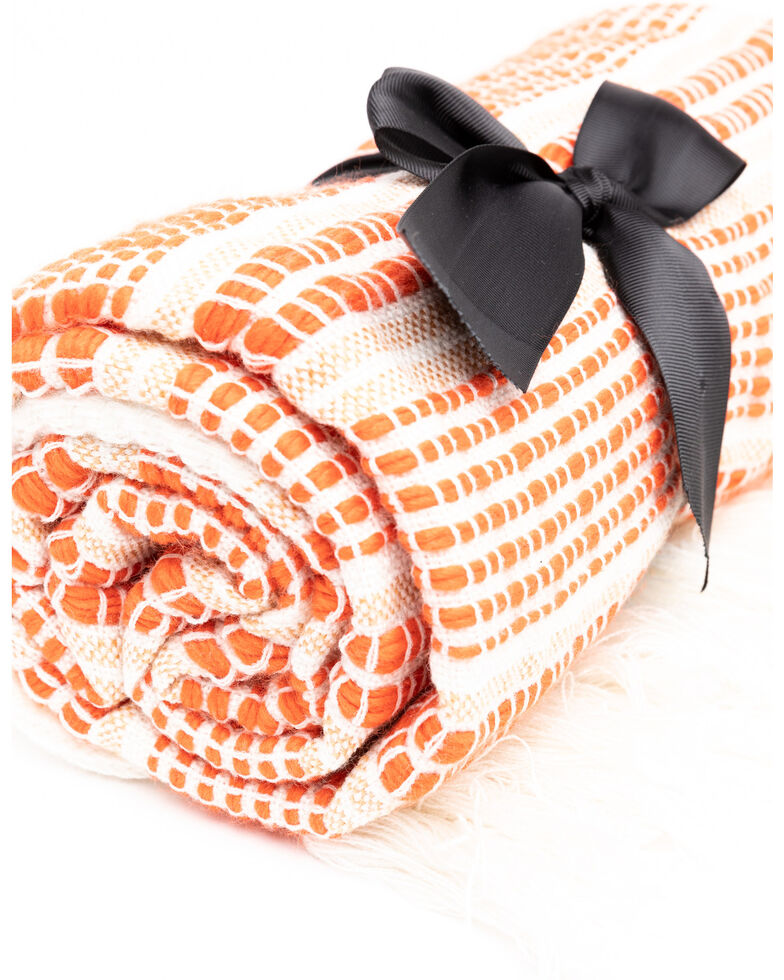 Boot Barn Ranch Desert Stripe Throw, Orange, hi-res