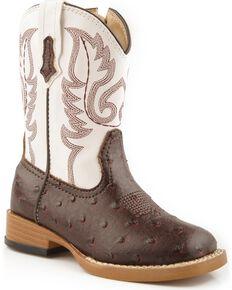 Roper Infant Western Boots, Brown, hi-res