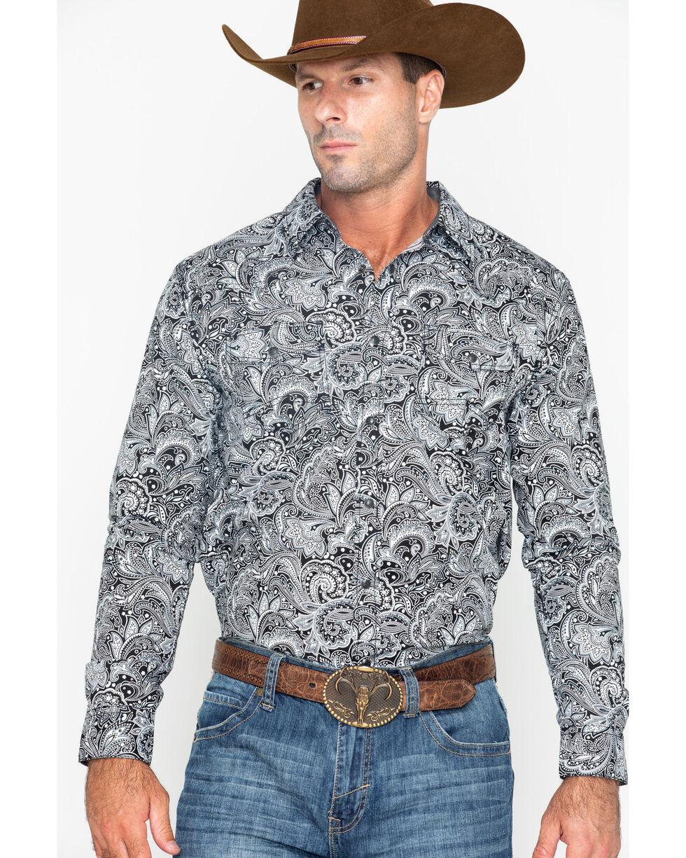 Cody James Men's Cauldron Floral Print Long Sleeve Western Shirt - Big & Tall , White, hi-res