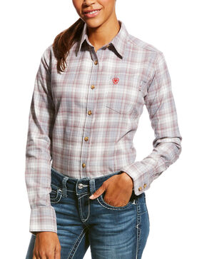 Ariat Women's FR Jolene Long Sleeve Button Down Work Shirt, Multi, hi-res