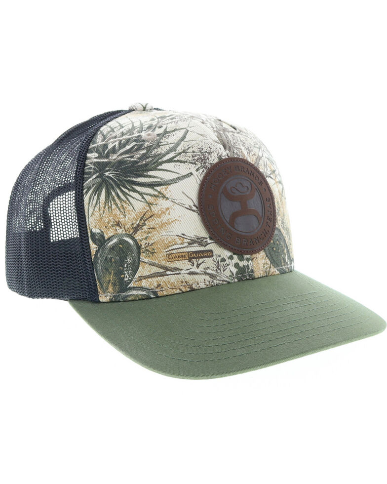HOOey Men's Game Guard Logo Camo Trucker Cap, Camouflage, hi-res