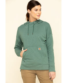 Carhartt Women's Musk Green Newberry Hoodie , Green, hi-res