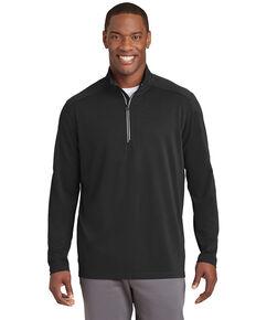 Sport Tek Men's Black Sport Wick Textured 1/4 Zip Pullover Work Sweatshirt , Black, hi-res