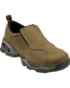 Nautilus Men's Slip-On Steel Toe ESD Work Shoes, Moss, hi-res