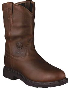 Ariat Men's Sierra H2O Steel Toe Work Boots, Brown, hi-res