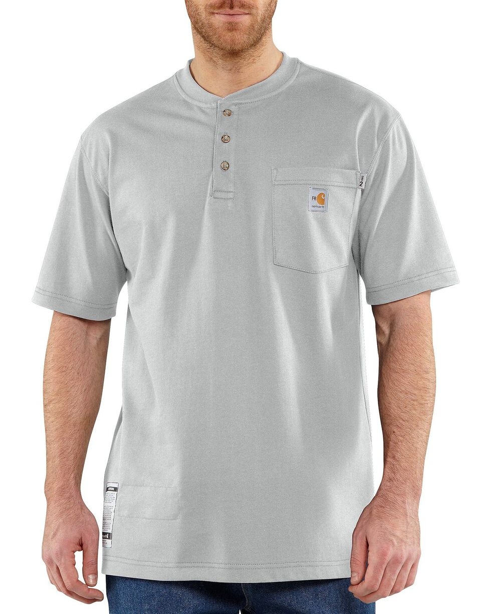 Carhartt Flame Resistant Henley Work Shirt - Big & Tall, Grey, hi-res