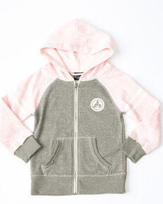 Cruel Girl Girls' Raglan Zip Hoodie , Pink, hi-res