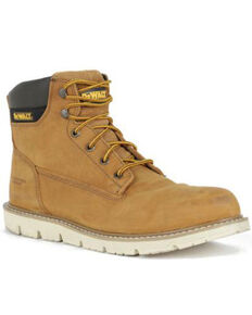 DeWalt Men's Flex Lace-Up Work Boots - Soft Toe, Wheat, hi-res