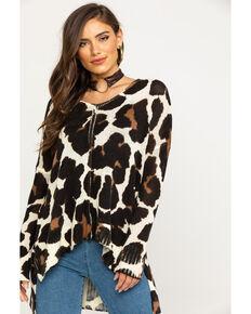 Show Me Your Mumu Women's Leopard Hug Me Sweater Wildcat Knit, Leopard, hi-res