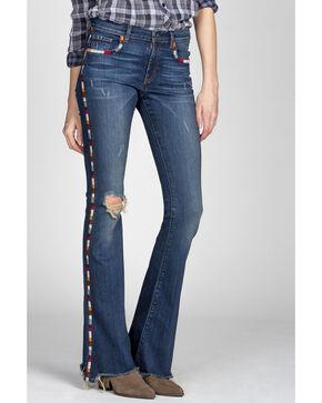MM Vintage Women's Janis Flare Jeans , Indigo, hi-res