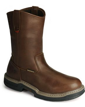 Wolverine Men's Buccaneer Multishox® Waterproof Wellington Work Boots, Dark Brown, hi-res