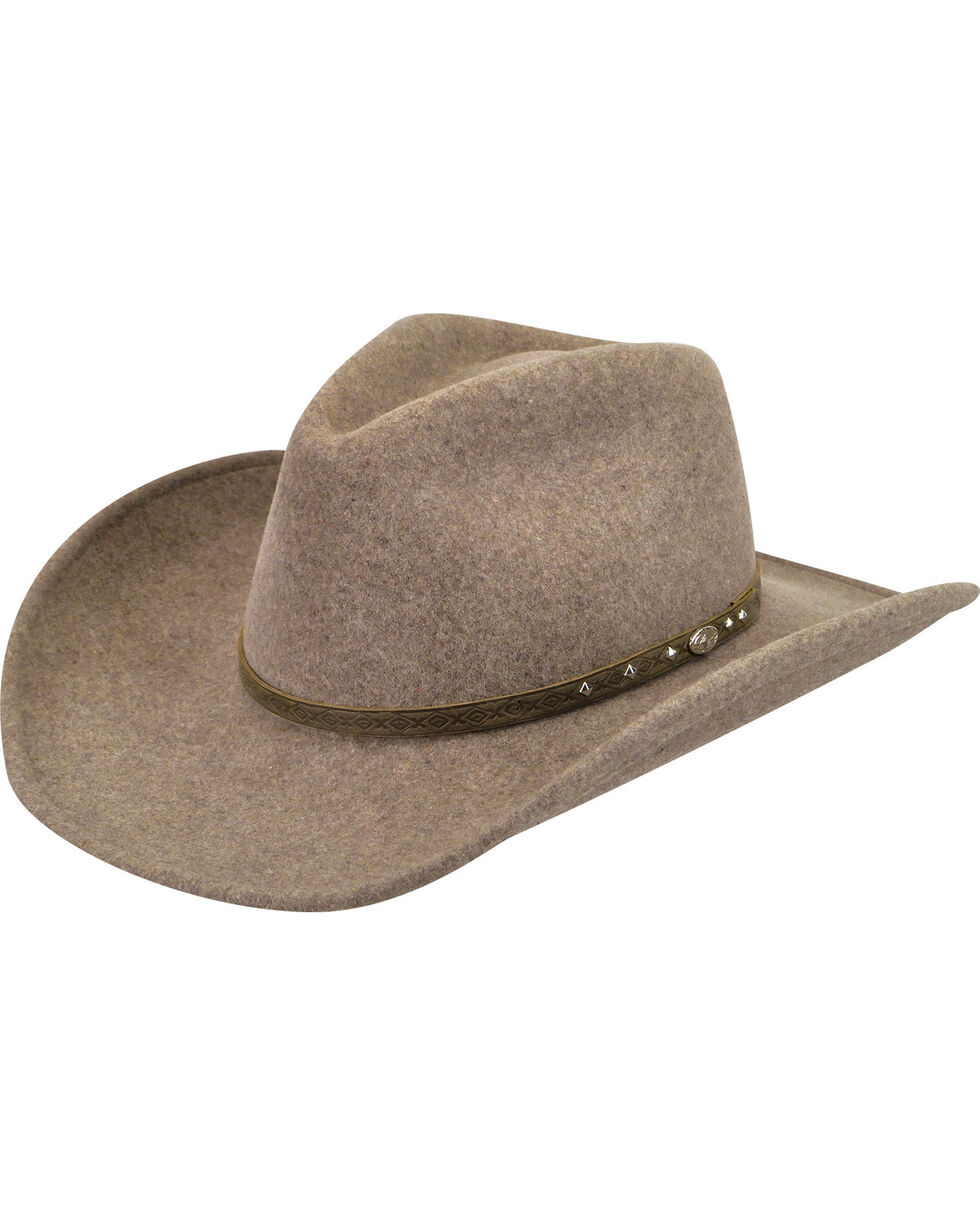 Wind River by Bailey Men's Gleeson Brown Felt Hat, Brown, hi-res
