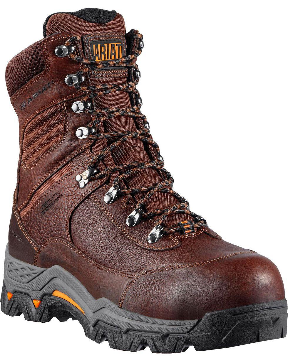 """Ariat Men's Trek 8"""" Insulated Work Boots, Brown, hi-res"""