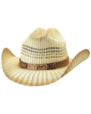 Bullhide Women's Caught Up Straw Hat, Ivory, hi-res