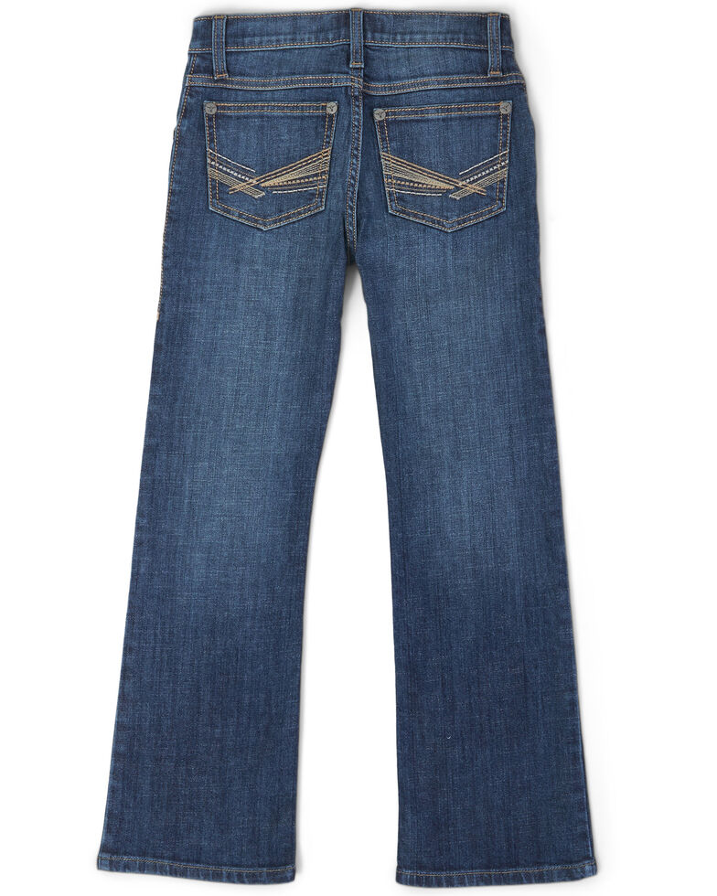 Wrangler 20X Toddler Boys' No. 42 Monroe Dark Vintage Stretch Bootcut Jeans , Blue, hi-res