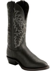 Tony Lama Men's Americana Conquistador Shoulder Western Boots, Black, hi-res