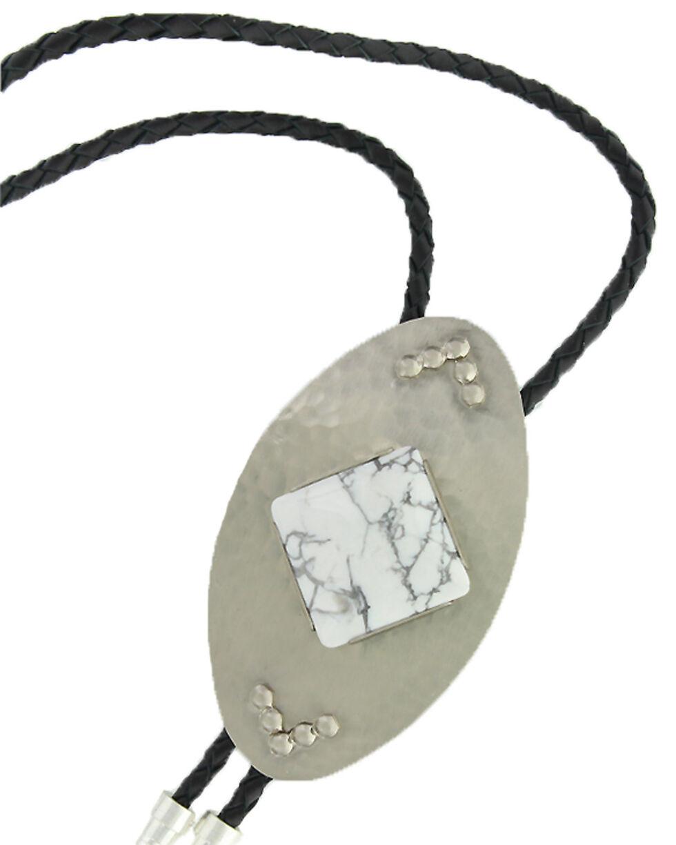 Montana Silversmiths Women's White Dune Bolo Tie , Silver, hi-res