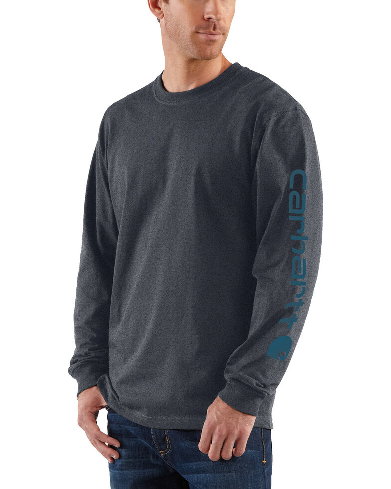 Carhartt Men's Long Sleeve Graphic T-Shirt, Grey, hi-res
