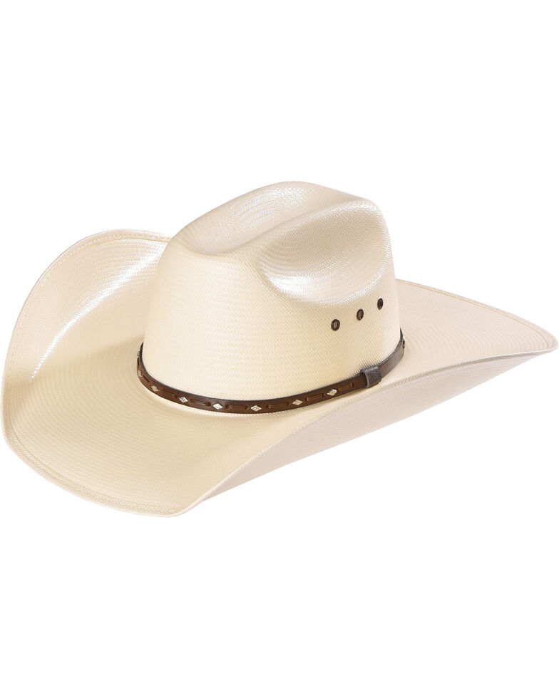 Cody James Men's Natural Straw Cowboy Hat, Natural, hi-res
