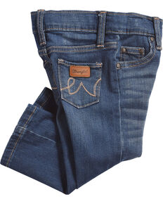 Wrangler Infant/Toddler Girls' Western 5 Pocket Jeans - Skinny, Blue, hi-res