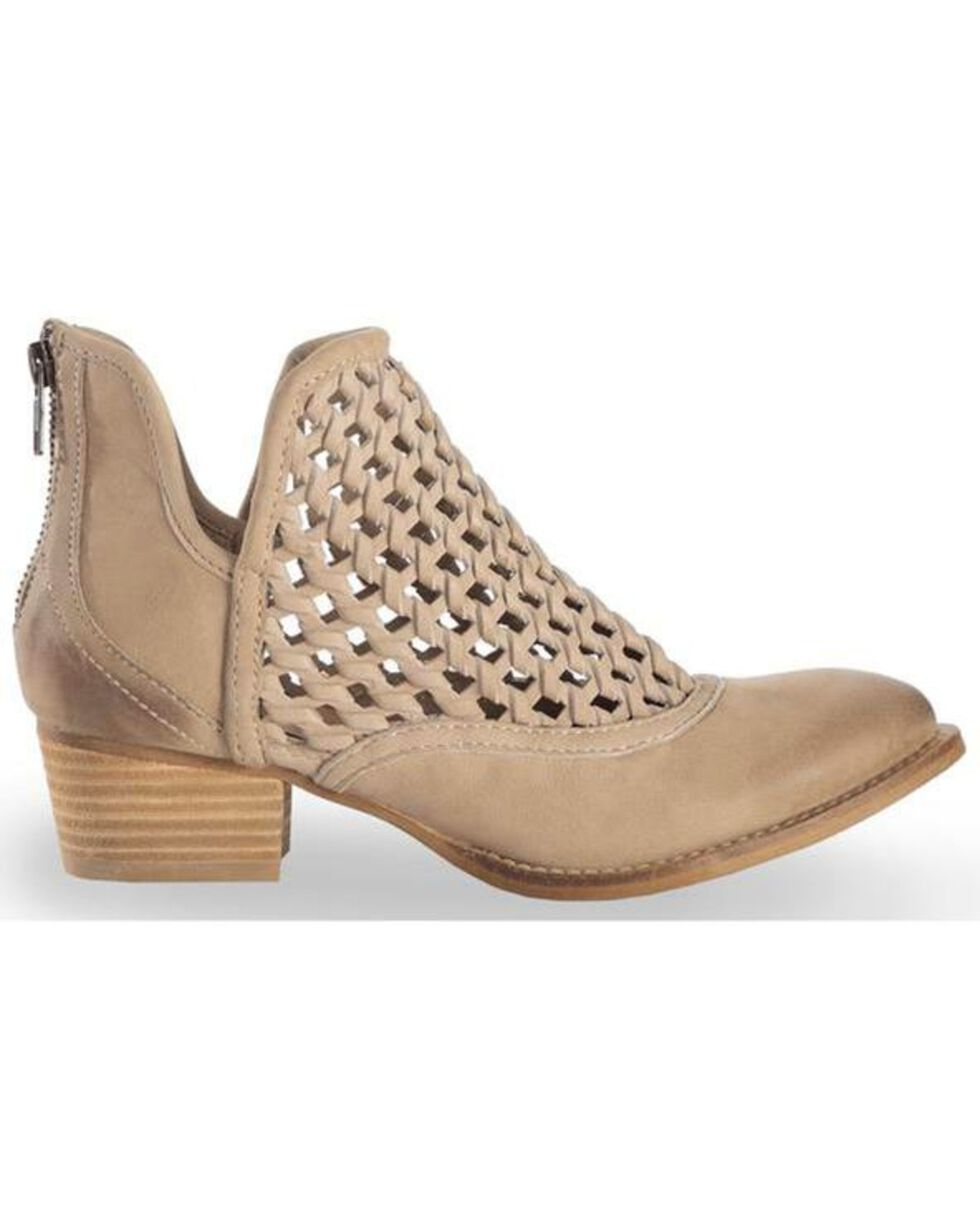 Very Volatile Women's Hudsun Stone Woven Booties - Medium Toe, Beige/khaki, hi-res