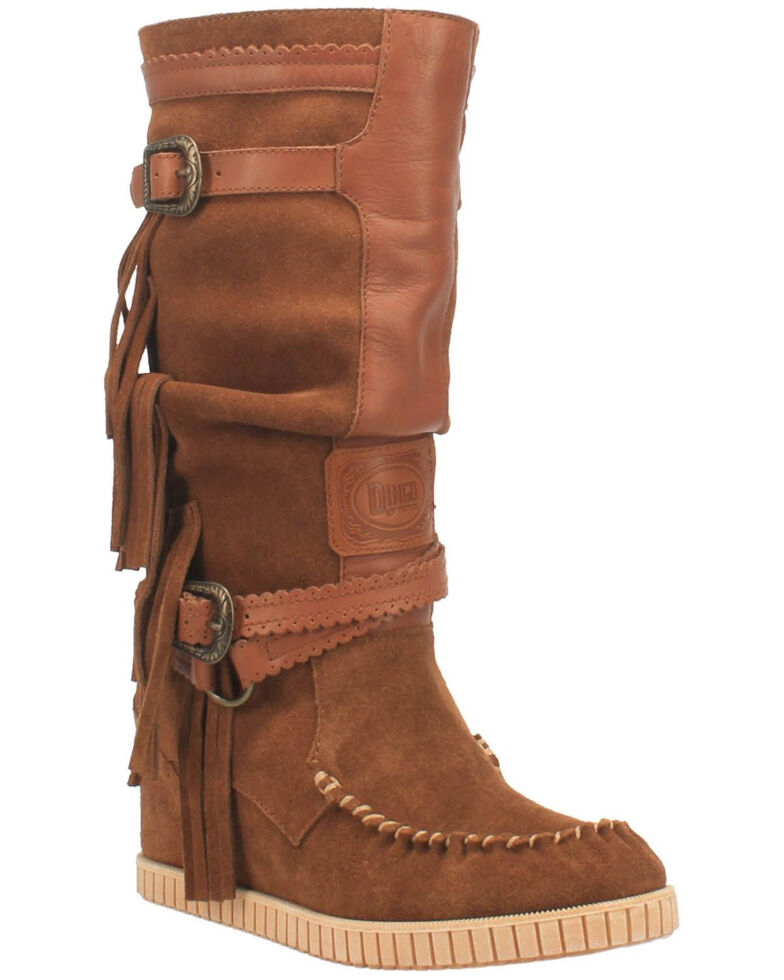 Dingo Women's Catabwa Western Boots - Moc Toe, Tan, hi-res