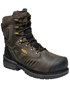 Keen Men's Philadelphia Waterproof Work Boots - Composite Toe, Brown, hi-res