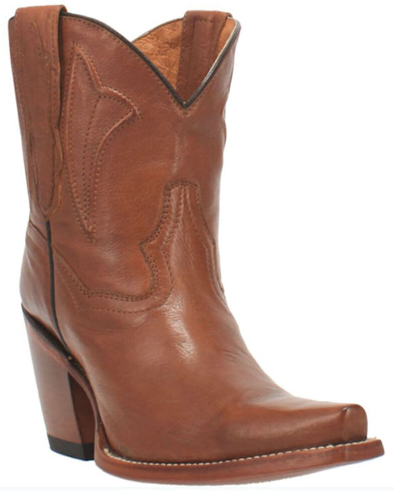 Dan Post Women's Myla Western Booties - Snip Toe, Tan, hi-res