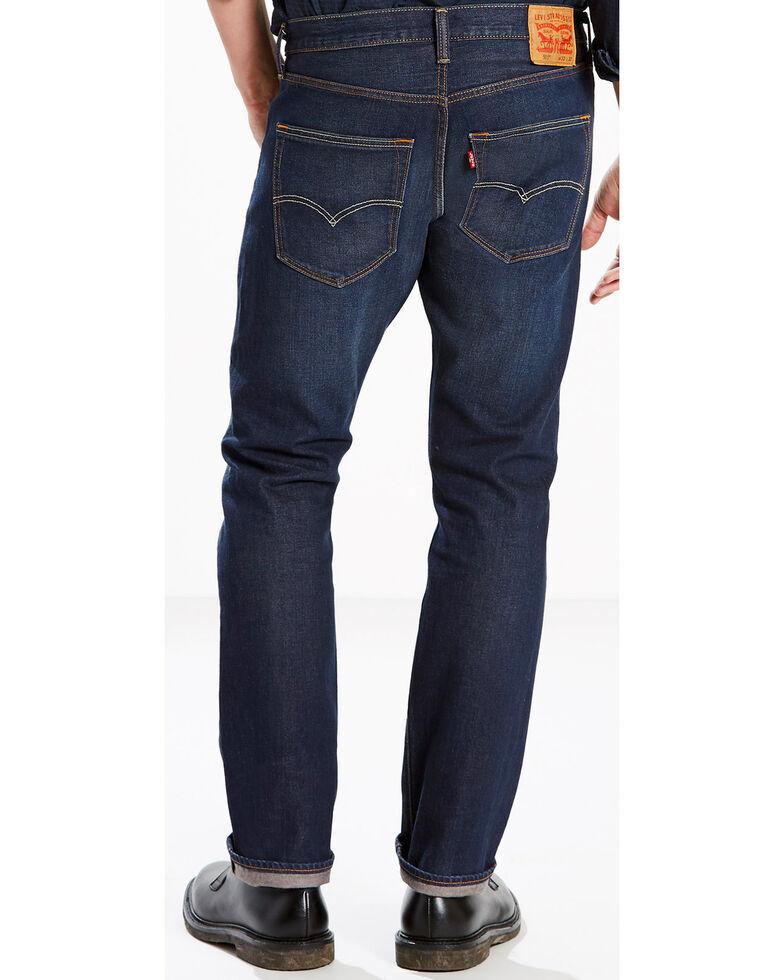 Levi's Men's Blue 501 Original Fit Anchor Stretch Straight Jeans , Blue, hi-res